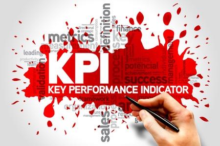 performance improvement: Key Performance Indicators word collage, KPI Business Concept Stock Photo