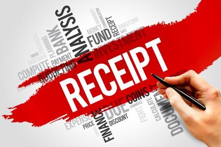 receipt: RECEIPT word cloud, business concept Stock Photo