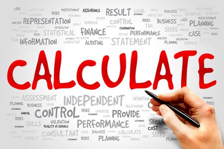 calculate: CALCULATE word cloud, business concept