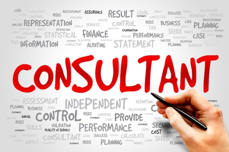 consulting team: CONSULTANT word cloud, business concept