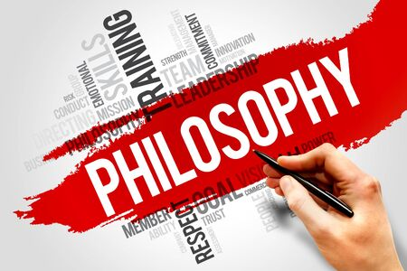philosophy: Philosophy word cloud, business concept