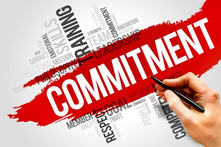 consign: Commitment word cloud, business concept