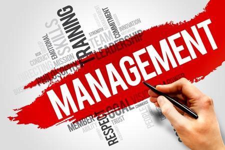 customer facing: MANAGEMENT word cloud, business concept