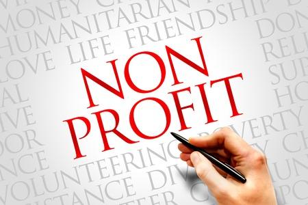 Non Profit word cloud concept
