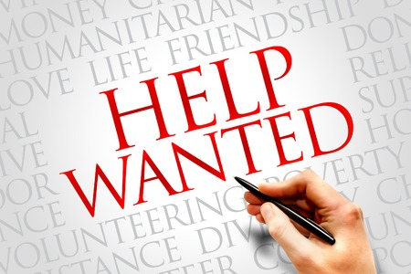 advertise with us: Help Wanted word cloud concept