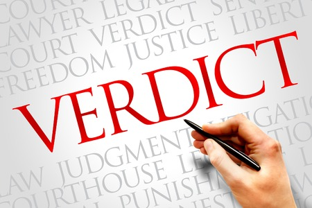 impartial: Verdict word cloud concept Stock Photo