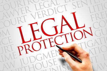 criminal case: Legal Protection word cloud concept