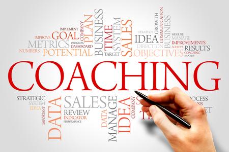 mentors: Coaching word cloud, business concept