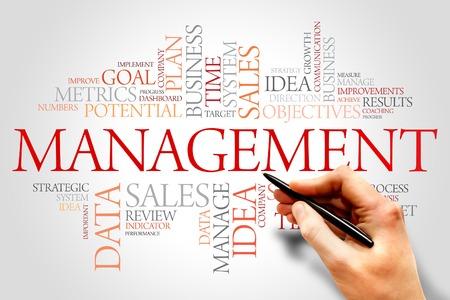 Management word cloud, business concept Stock fotó