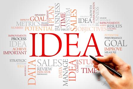 teorema: Idea nube de la palabra, concepto de negocio Foto de archivo