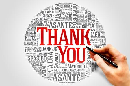 merci: Merci Word Cloud dans diff�rentes langues