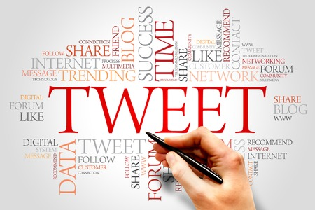 tweet: Tweet word cloud, business concept