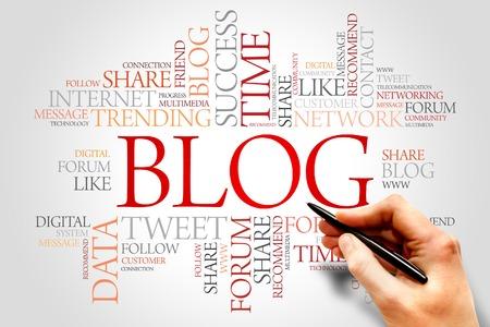 Blog word cloud, business concept
