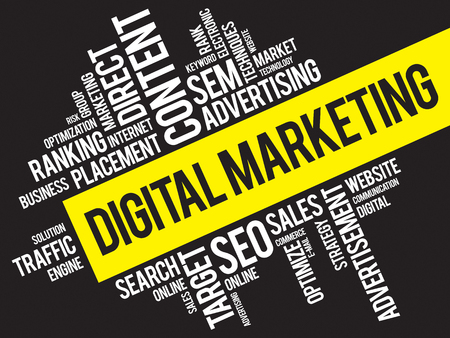 marketers: Digital Marketing word cloud, business concept