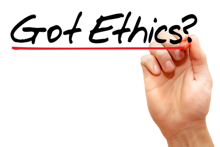 Hand writing Got Ethics? with marker, business concept Stock Photo