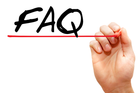 Hand writing acronym FAQ - Frequently Asked Questions with marker, business concept