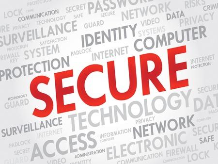 trojanhorse: SECURE word cloud, business concept