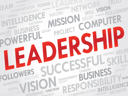 charismatic: Leadership Word Cloud, business concept Illustration