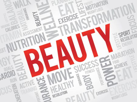 complexion: BEAUTY word cloud, fitness, sport, health concept Illustration