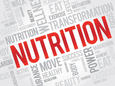 vitamine: NUTRITION word cloud, fitness, sport, health concept