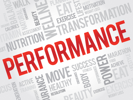 パフォーマンス: PERFORMANCE word cloud, fitness, sport, health concept