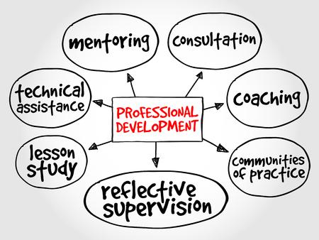 proffessional: Professional development mind map business concept