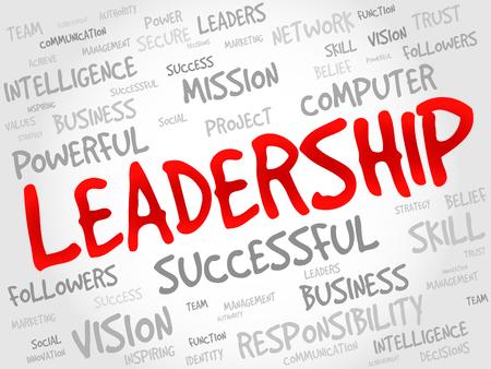 Leadership Word Cloud, business concept Illustration