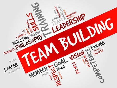 チーム ビルディングの単語の雲、ビジネス コンセプト  イラスト・ベクター素材