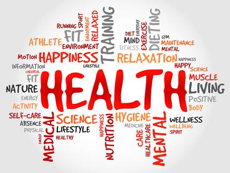sport body: HEALTH word cloud concept