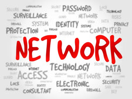 malicious software: NETWORK word cloud, business concept Illustration
