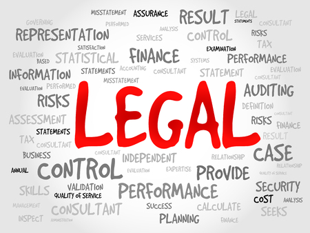 ownership and control: LEGAL word cloud, business concept