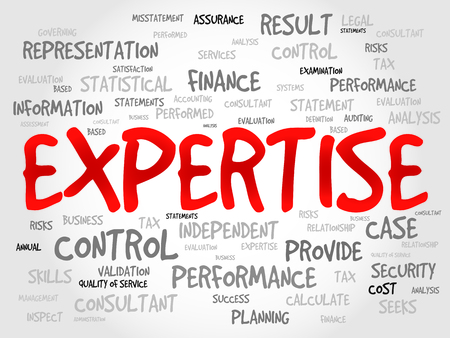 EXPERTISE word cloud, business concept Illustration