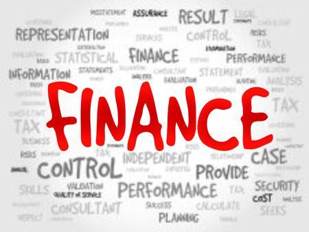 bonds: FINANCE word cloud, business concept