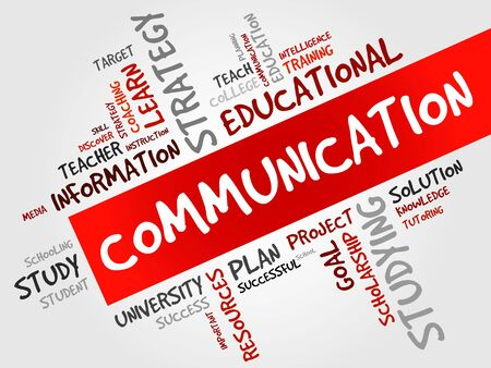 communication concept: COMMUNICATION word cloud, education concept