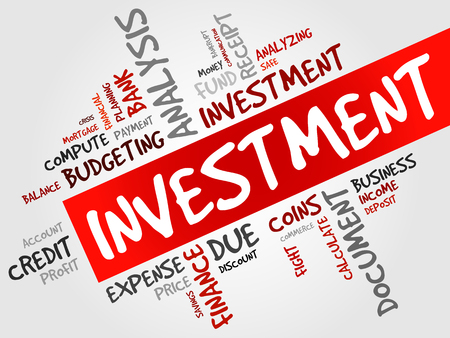 debt collection: INVESTMENT word cloud, business concept