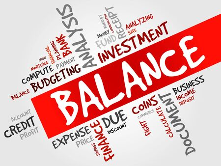 obligee: BALANCE word cloud, business concept