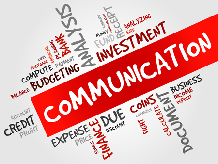communication concept: COMMUNICATION word cloud, business concept