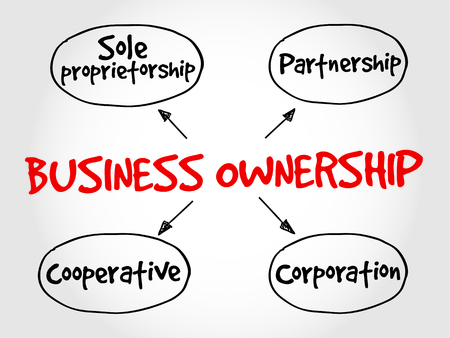 Business ownership mind map concept Illustration