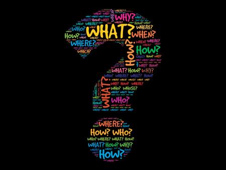 punto interrogativo: Punto interrogativo, concetto domanda parole vettore