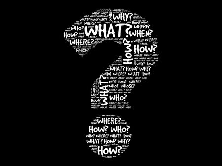 Question mark, Question words vector concept 版權商用圖片 - 45028512