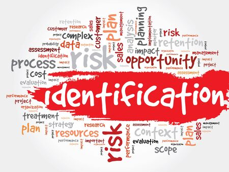 biometric: Word Cloud with Identification related tags business concept