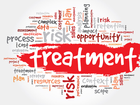 technical term: Word Cloud with Treatment related tags, business concept