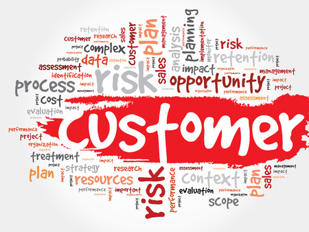 underestimate: Customer word cloud, business concept