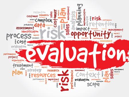 Évaluation nuage de mot, concept d'entreprise Vecteurs