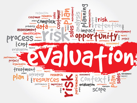 Evaluation word cloud, business concept Stok Fotoğraf - 45038949