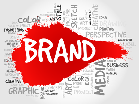 BRAND word cloud, business concept 向量圖像