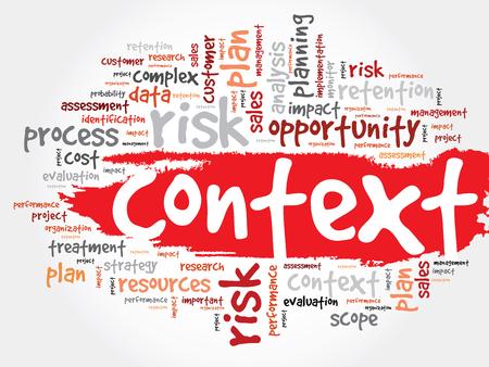 Contexto nube de la palabra, concepto de negocio