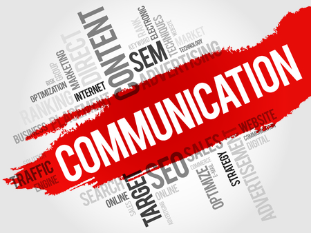 verbal: COMMUNICATION word cloud, business concept