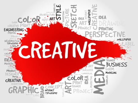 ingenuity: CREATIVE word cloud, business concept