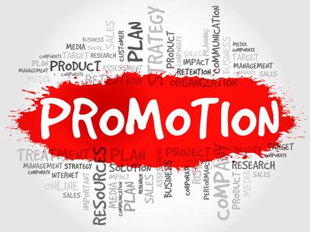 retailing: PROMOTION word cloud, business concept Illustration